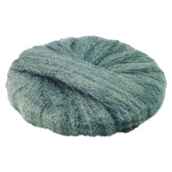 Global Material Radial Steel Wool Pads, Grade 0 (fine): Cleaning & Polishing, 20 in, Gray, 12/CT