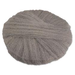 Global Material Grade #3 Standard Radial Steel Wool Floor Pads, Hard Floor, 20 in, 12/Carton