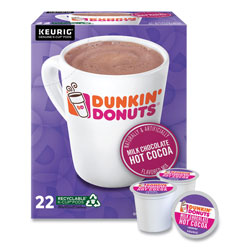 Dunkin' Donuts Milk Chocolate Hot Cocoa K-Cup Pods, 22/Box