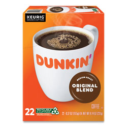 Dunkin' Donuts K-Cup Pods, Original Blend, 22/Box