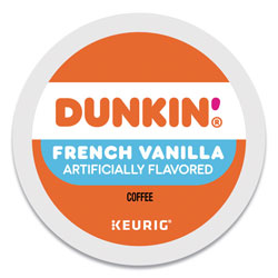 Dunkin' Donuts K-Cup Pods, French Vanilla, 22/Box