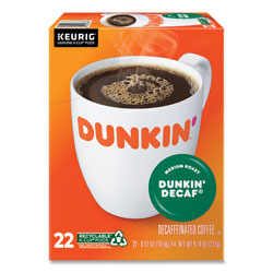 Dunkin' Donuts K-Cup Pods, Dunkin' Decaf, 22/Box