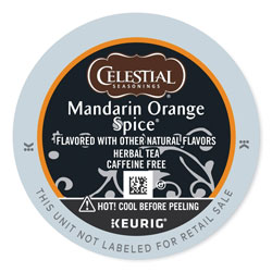 Celestial Seasonings® Mandarin Orange Spice Herb Tea K-Cups 24/Box