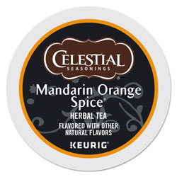 Celestial Seasonings® Mandarin Orange Spice Herb Tea K-Cups, 96/Carton