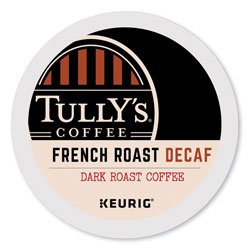 Tully's Coffee® French Roast Decaf Coffee K-Cups, 96/Carton