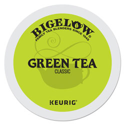 Bigelow Tea Company Green Tea K-Cup Pack, 24/Box, 4 Box/Carton