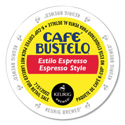 Cafe Bustelo Espresso Style K-Cups, 24/Box