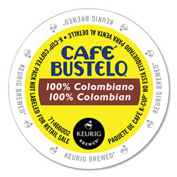 Cafe Bustelo 100 percent Colombian K-Cups, 24/Box