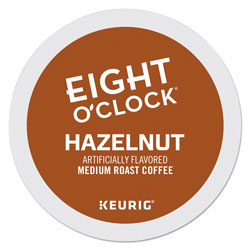 Eight O'Clock Hazelnut Coffee K-Cups, 96/Carton