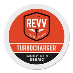 revv® TURBOCHARGER K-Cup, Dark Roast, K-Cup, 24/Box