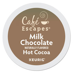 Cafe Escapes® Café Escapes Milk Chocolate Hot Cocoa K-Cups, 96/Carton