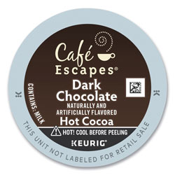 Cafe Escapes® Café Escapes Dark Chocolate Hot Cocoa K-Cups, 24/Box