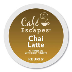 Cafe Escapes® Café Escapes Chai Latte K-Cups, 24/Box