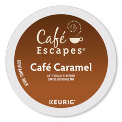 Cafe Escapes® Café Caramel K-Cups, 24/Box