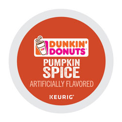 Dunkin' Donuts K-Cup Pods, Pumpkin Spice, 22/Box