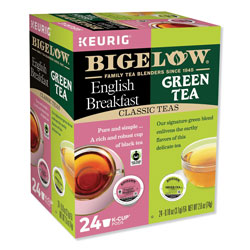 Bigelow Tea Company Green Tea and English Breakfast Variety Pack, 24/Box