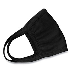 GN1 Cotton Face Mask with Antimicrobial Finish, Black, 10/Pack