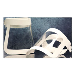 SCT Face Shield, 20.5 to 26.13 x 10.69, One Size Fits All, White/Clear, 225/Carton