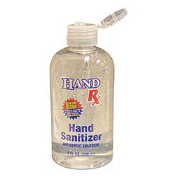 GEN Hand Rx Sanitizer, 8 oz Bottle, Unscented, 12/Carton