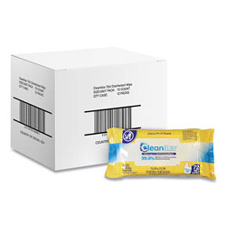 Cleanitize™ Disinfectant Surface Wipes, 7 x 7, Citrus Fruit Scent, White, 72/Pack, 12 Packs/Carton