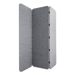 Lumeah Concertina Foldable Sound Reducing Room Divider Privacy Screen, 70 x 1 x 70, Polyester/Nylon, Gray