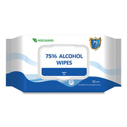 GN1 Personal Ethyl Alcohol Wipes, 6 x 8, White, 50/Pack