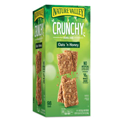 General Mills Granola Bars, Oats and Honey, 1.5 oz Bar, 49/Carton