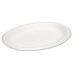Genpak Celebrity Foam Platters, 11.5 x 8.5, White, 125/PK, 4 PK/CT