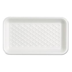 Genpak Supermarket Tray, Foam, White, 8-1/4x4-3/4x5/8, 125/Bag