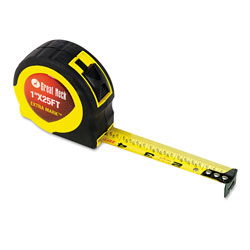 Great Neck Tools ExtraMark Power Tape, 1 in x 25ft, Steel, Yellow/Black