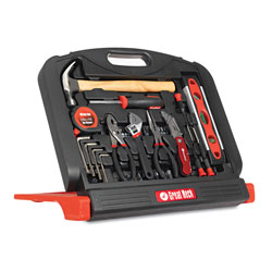 Great Neck Tools 48-Tool Set in Blow-Molded Case, Black