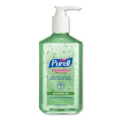 Purell Advanced Hand Sanitizer Soothing Gel, Fresh Scent with Aloe and Vitamin E, 12 oz Pump Bottle, 12/Carton