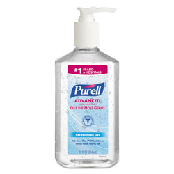 Purell Advanced Hand Sanitizer Refreshing Gel, Clean Scent, 12 oz Pump Bottle