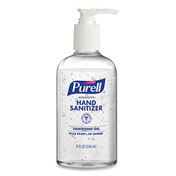 Purell Advanced Hand Sanitizing Gel, 8 oz Pump Bottle, 12/Carton