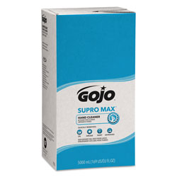 Gojo SUPRO MAX Hand Cleaner Refill, 5000 mL, Floral Scent, Beige, 2/Carton