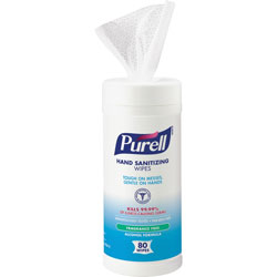 Purell Alcohol Sanitizing Wipes, 80 Wipes, White