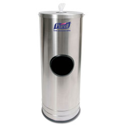 Purell Dispenser Stand f/Sanitizing Wipes, Holds 1500 Wipes, 10.25 x 10.25 x 14.5, SS