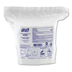 Purell Hand Sanitizing Wipes, 8.25 x 14.06, Fresh Citrus Scent, 1700 Wipes/Pouch, 2 Pouches/Carton