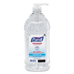 Purell Advanced Hand Sanitizer Refreshing Gel, Clean Scent, 2 L Pump Bottle, 4/Carton