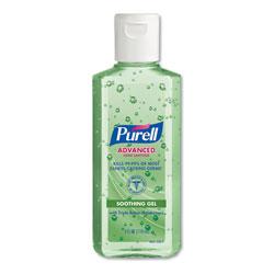 Purell Advanced Instant Hand Sanitizer with Aloe, 4 oz Flip-Cap Bottle, 24/Carton