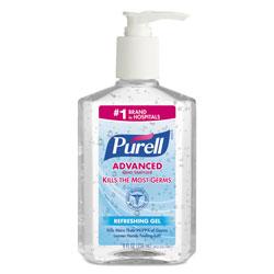 Purell Advanced Instant Hand Sanitizer, 8 oz Pump Bottle