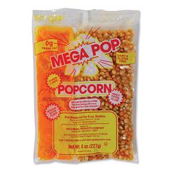 Gold Medal Products Mega Pop Popcorn, Butter, 8 oz Bag, 36 Bags/Carton