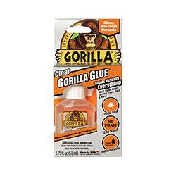 Gorilla Glue Clear Gorilla Glue, 1.75 oz, Dries Clear, 4/Carton