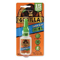 Gorilla Glue Super Glue Gel, 0.53 oz, Dries Clear, 4/Carton