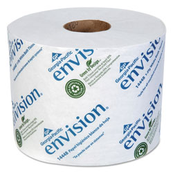 Envision® High-Capacity Standard Bath Tissue, 1-Ply, White, 1500/Roll, 48/Carton