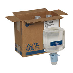Pacific Blue Ultra Foam Sanitizer Refills for Automated Touchless Soap Dispenser, Dye and Fragrance Free, 1,000 mL/Bottle, 3 Bottles/Case