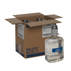 Pacific Blue Ultra Antimicrobial Foam Hand Soap Refills for Manual Dispensers, Dye & Fragrance Free, 1,200 mL/Bottle, 4 Bottles/Case