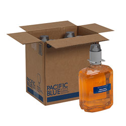 Pacific Blue Ultra Antimicrobial BZK Foam Hand Soap Refills for Manual Dispensers, Antimicrobial Pacific Citrus®, 1,200 mL/Bottle, 4 Bottles/Case