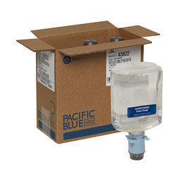 Pacific Blue Ultra Antimicrobial Foam Soap Refills for Automated Touchless Soap Dispenser, Dye and Fragrance Free, 1,200 mL/Bottle, 3 Bottles/Case