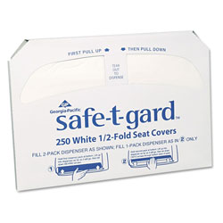 GP Half-Fold Toilet Seat Covers, White, 250/Pack, 20 Boxes/Carton